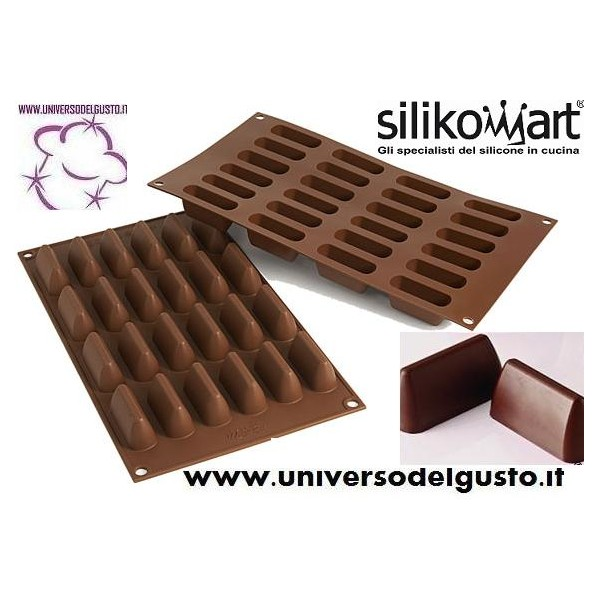 Stampo cioccolatini in silicone 24 gianduiotti for Attrezzi cucina in silicone