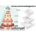 SET 3 STAMPI MY WONDER CAKE CLASSIC IN SILICONE di SILIKOMART