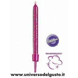 BLISTER 24 CANDELE COLORI PASTELLO 6,3cm