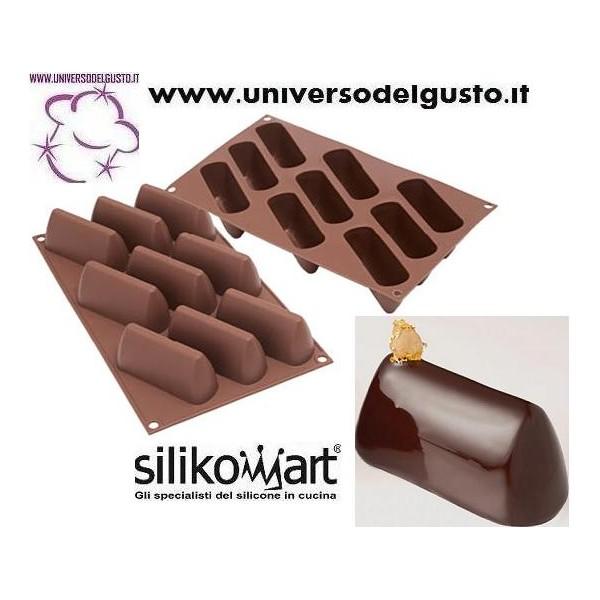 Stampo in silicone 9 gianduiotti gianduiotto mono for Attrezzi cucina in silicone