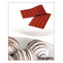 STAMPO IN SILICONE NR.24 SEMISFERE ø30 MM H 15 MM SILIKOMART (delizie - semifreddi - dolci - cioccolata)