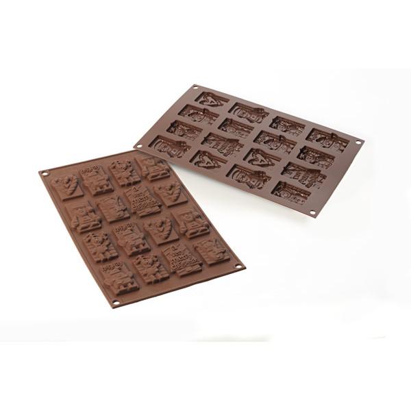 stampo cioccolatini in silicone xmas choco tags christmas