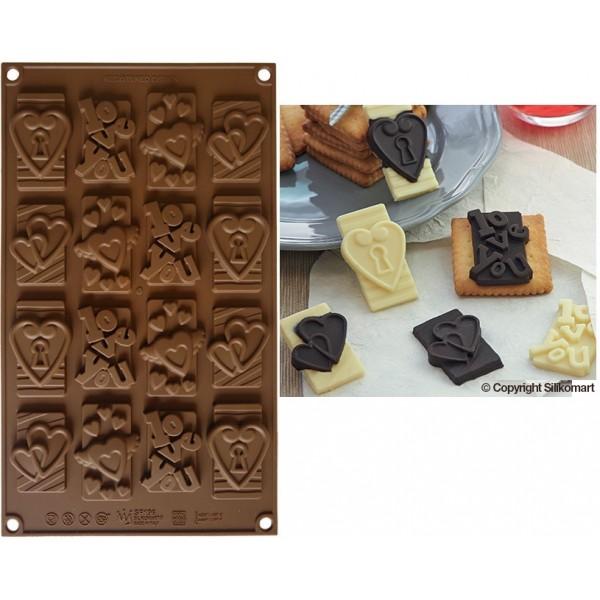 stampo cioccolatini in silicone sf 196 choco tags in
