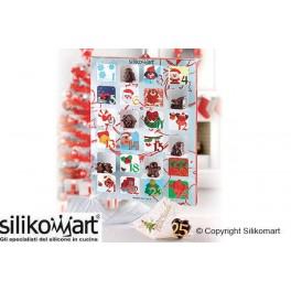 SET 2 CREATIVE XMAS COUNTDOWN GIFT BOX - NATALE - CALENDARIO DELL'AVVENTO SILIKOMART